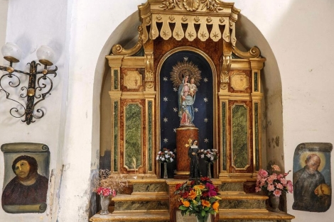 Interior del santuario de Nuestra Señora de la Misericordia de Borja. | Efe