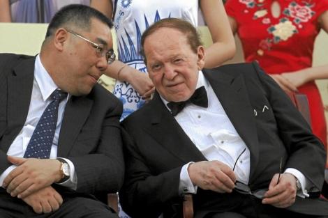 Sheldon Adelson, en su casino de Macao. | Reuters