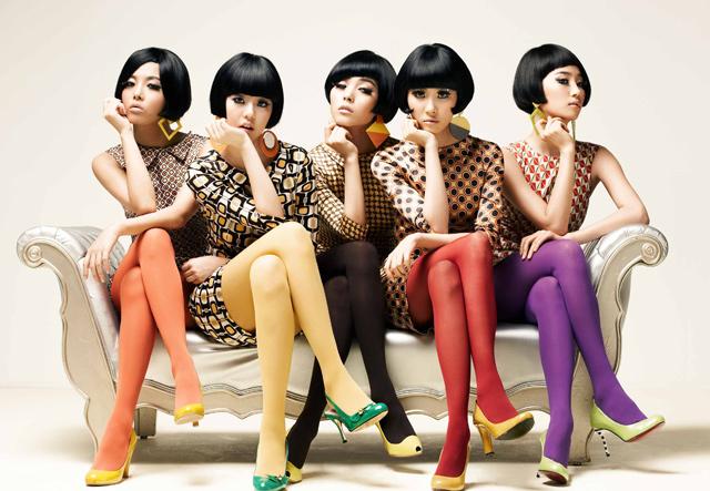 Integrantes del grupo femenino surcoreano Wonder Girls