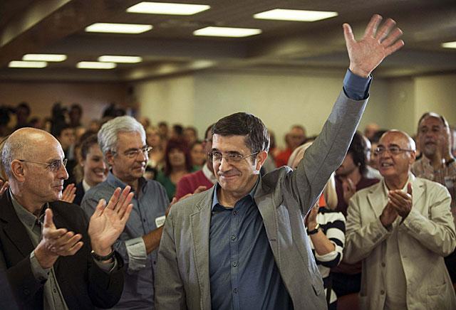 López tras su reelección como candidato a lehendakari en el Comité Nacional del PSE-EE. | Efe
