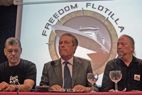 Lotayef, Zaragoza y Feiler durante la rueda de prensa. | Paola Giura