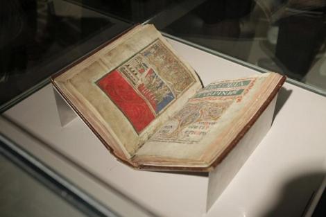 El manuscrito durante su exposición a finales de agosto.   Óscar Corral