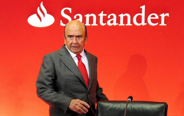 El presidente del Banco Santander, Emilio Botín. | Afp