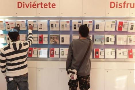 Tienda de Vodafone. | Begoña Rivas