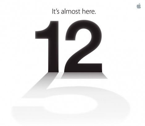 La convocatoria de Apple: Un 12 con sombra de número cinco.