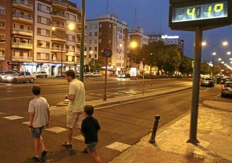 Termómetro en Sevilla.   Carlos Márquez