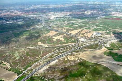 Vista aérea de los terrenos de Valdecarros.   E.M.