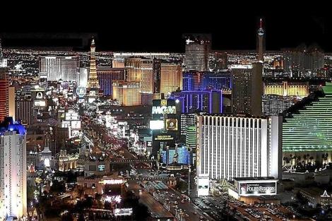 Imagen de la strip (avenida principal) de Las Vegas. | E. M. [VEA EL GRÁFICO]