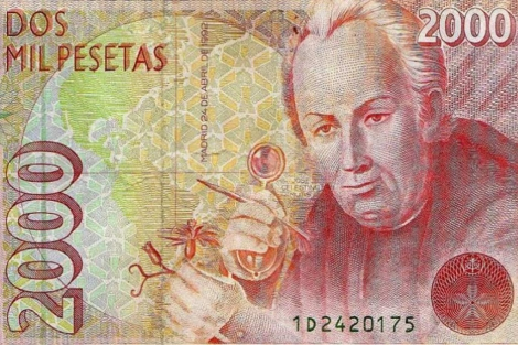 Detalle de un billete de 2.000 pesetas