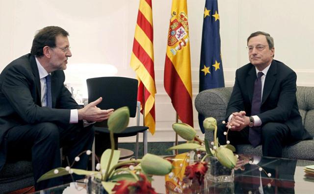 Reunión entre Rajoy y Draghi celebrada el pasado mayo. | Efe