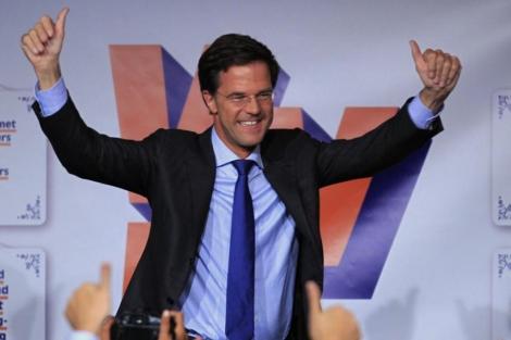 Mark Rutte, líder de los liberales, celebra los resultados. | Reuters IMÁGENES