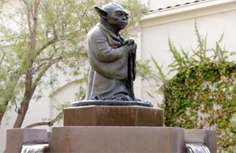 La fontana de Yoda en ILM