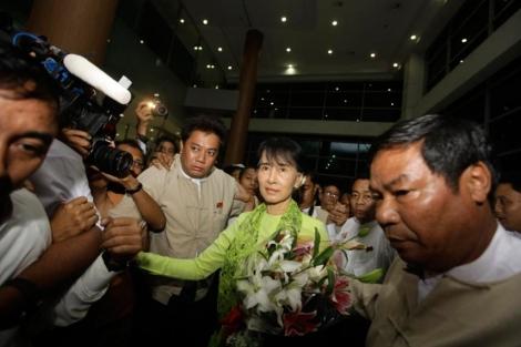 La Premio Nobel Aung San Suu Kyi. | Reuters
