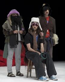 'Los Torreznos', artistas conceptuales y escénicos, en el Teatro Pradillo