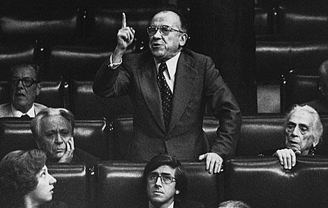 El dirigente comunista interviene en el Congreso en 1977. | Efe