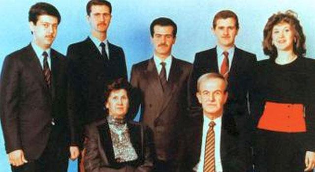 Foto de familia de los Asad. La primogénita Bushra, la primera a la derecha.   E.M.