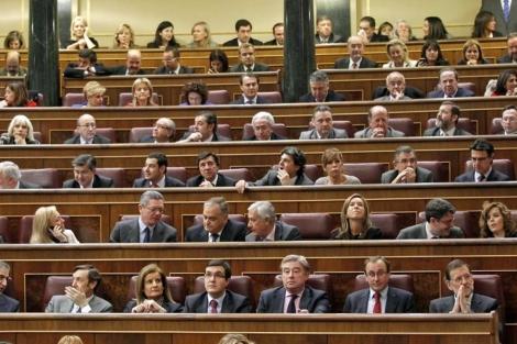 Bancada 'popular' del Congreso de los Diputados. | José Aymá