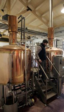 Instalaciones de una cervecera.   Foto: I. M.
