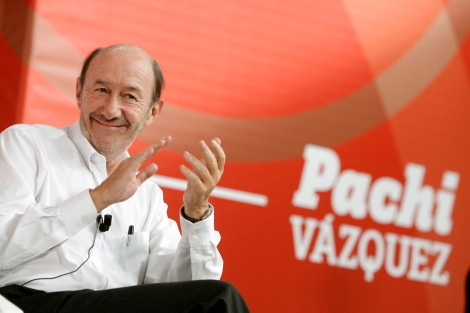 Alfredo Pérez Rubalcaba, en el acto en A Coruña. | Efe