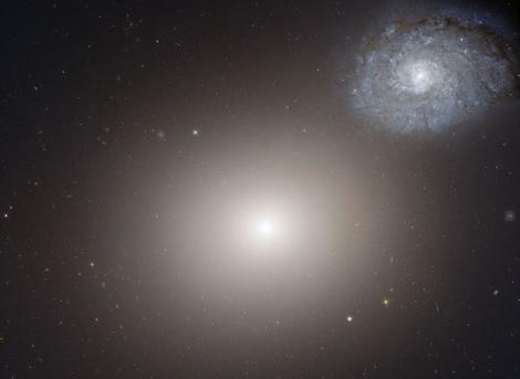 La pareja de galaxias Arp116. | NASA/ESA/HST