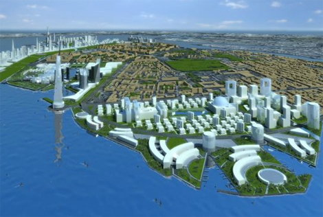 Infografía del plan maestro de Nihzni Nóvgorod, diseñado por HCT Arquitectos. | Elmundo.es