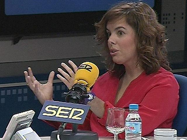 Soraya Sáenz de Santamaría, vicepresidenta del Gobierno.   Efe TV
