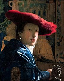 'Muchacha con sombrero rojo'