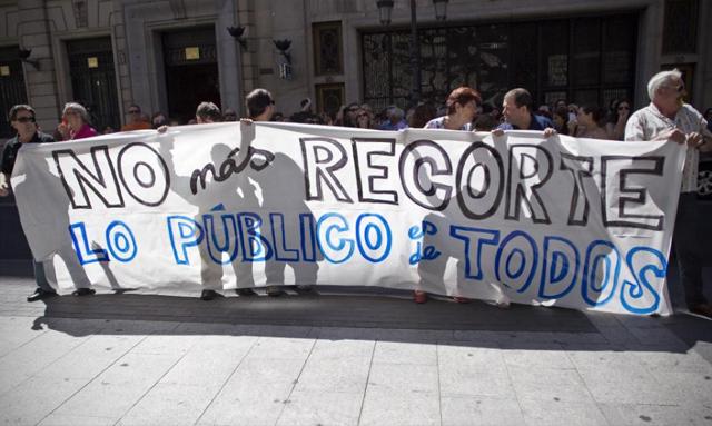 Protesta de funcionarios en Madrid.   Alberto di Lolli