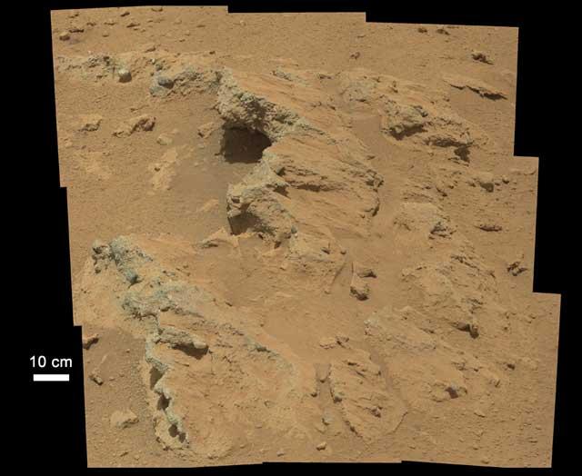 Rocas formadas por agua corriente halladas en Marte. | NASA