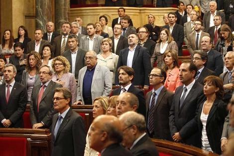 Sesión plenaria en el Parlamento de Cataluña. | Reuters / Gustau Nacarino