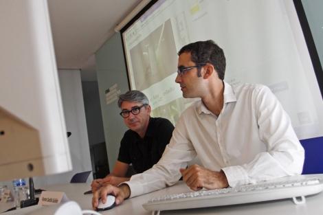 Presentación de la red social en el Colegio de Alicante. | Roberto Pérez