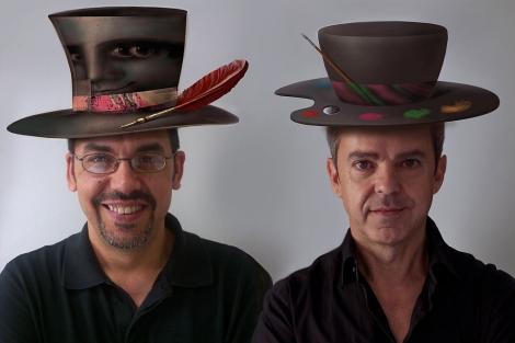 José Antonio Francés, a la izquierda, junto a Manuel Domínguez. | E.M.
