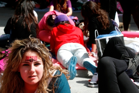 Esperas de días para entrar al concierto de Justin Bieber, en Madrid. | D. Sinova