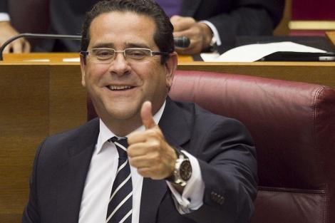 Jorge Bellver, en su nuevo escaño como síndico del PP en las Cortes. | Vicent Bosch