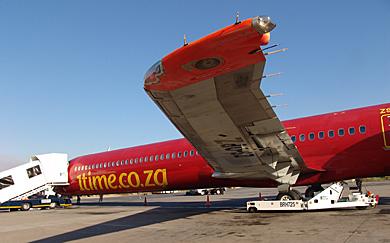 Avión de la aerolínea surafricana '1time'