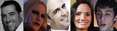 Los actores que encarnan a los principales personajes de la serie.