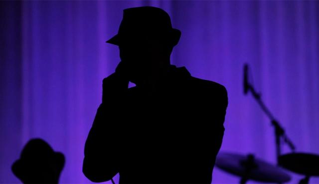 Cohen durante su actuación.