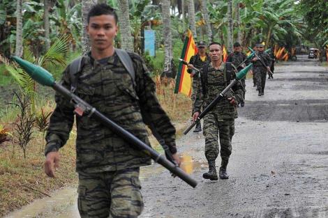 Imagen de archivo de miembros del Frente Moro de Liberación.   Afp