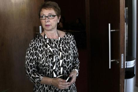 La consejera Carmen Martínez Aguayo, a su llegada al comité director del PSOE-A. | Efe