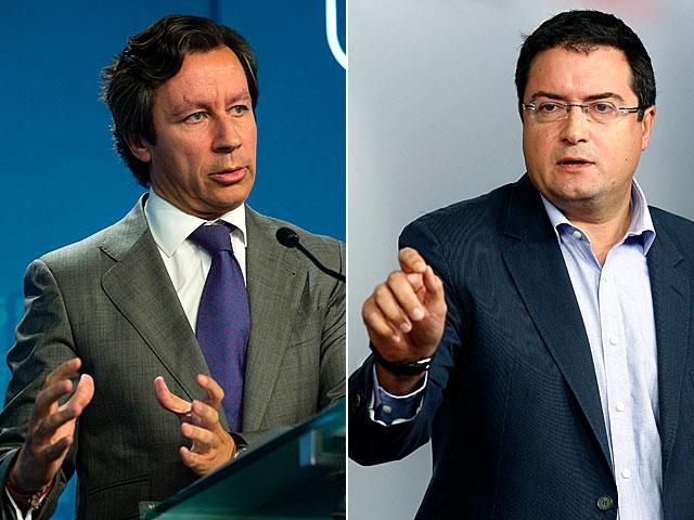 Carlos Floriano (PP) y Óscar López (PSOE). | Efe