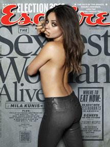 Mila Kunis en la portada de 'Esquire'.
