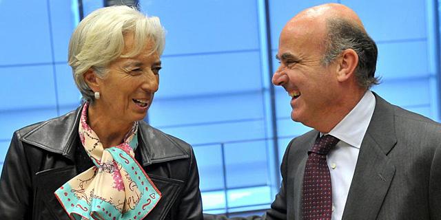 Christine Lagarde, junto al ministro de Economía, Luis de Guindos. | Efe