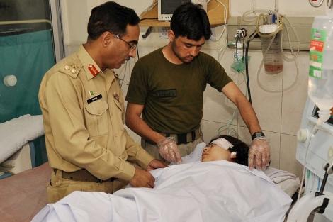 La joven, en el hospital.| Afp