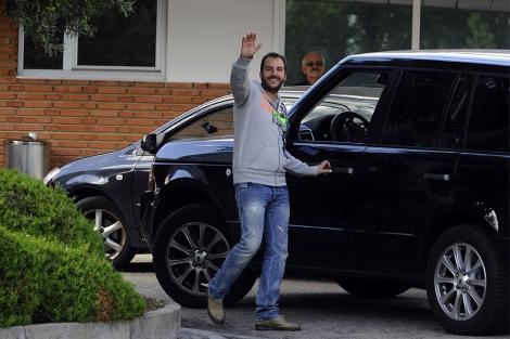Borja Thyssen sale de la clínica esta mañana.   Gtres