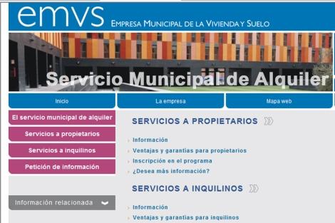 Página web municipal a través de la que se gestina este Servicio.