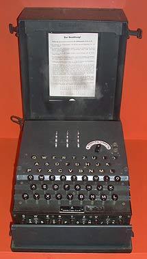 Una máquina Enigma.