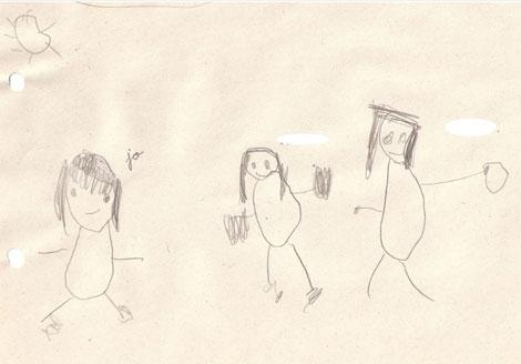 Retrato de familia realizado por un niño de cinco año. | Imagen cedida por Psicodiagnósis. es