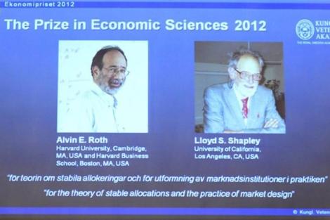 La Academia Sueca de las Ciencias anuncia la concesión del premio.   Afp