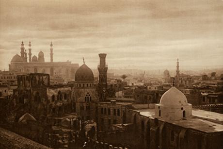 'Atardecer en el Cairo' (1905, Lehnert y Landrock). Colección de Clark & Joan Worswick.