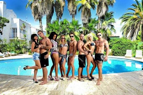Los participantes del 'docu-reality' Gandia Shore, en MTV. | E.M.